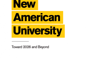 The cover of the New American University brochure